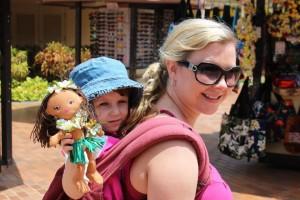 babywearing in Maui