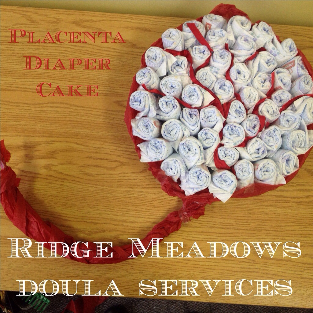 How to make a Placenta Diaper Cake