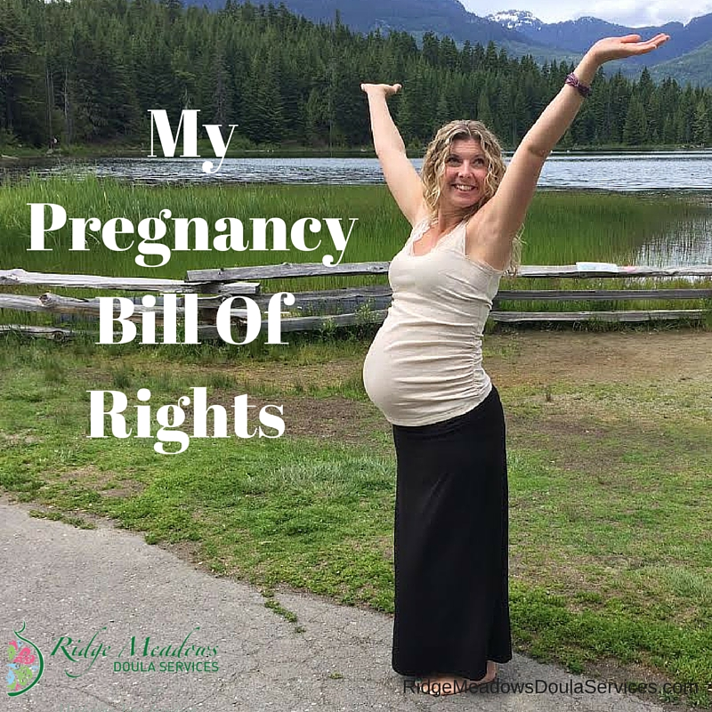 My Pregnancy Bill Of Rights